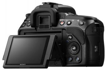 Sony Alpha DSLR-A560 - Back