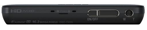 Sony DSC-TX55 - Top