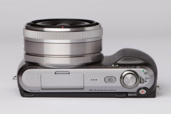 Sony Nex-C3 - 16mm Pancake lens - Top
