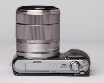 Sony Nex-C3 - Top with 15-55mm Lens