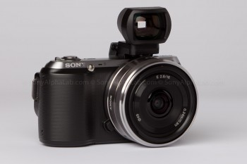 Sony Nex-C3 - 16mm Pancake lens - Optical Viewfinder Attached