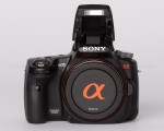 Sony Alpha 35 - Flash Up - Front View