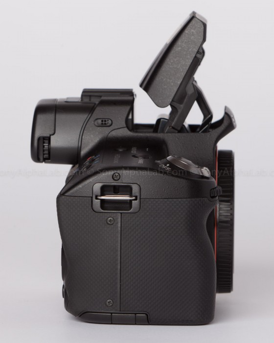 Sony Alpha 35 - Flash Up - Side View