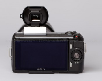 Sony Nex-C3 - 16mm Pancake lens - Optical Viewfinder Attached - Back View