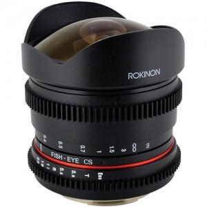 Rokinon 8mm T/3.8 Fisheye Cine Lens