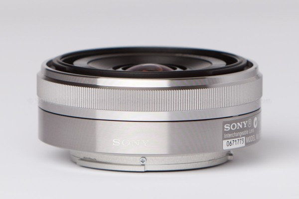 Sony 16mm f/2.8 E-Mount Lens - side