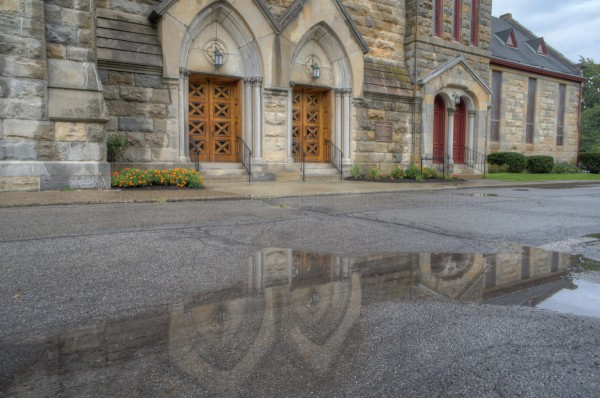 Sony Nex-C3, Sony 16mm f/2.8 Lens @ f/8, autoHDR - Goshen Church