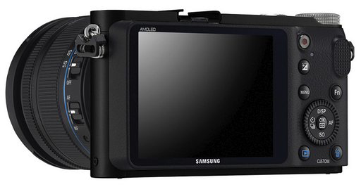 Samsung NX200 - Front w/ 18-55mm kit lens