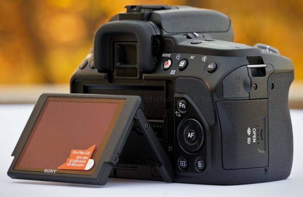 Sony Alpha 580, SLT-A580 - Back, LCD Out