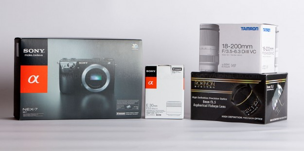 Sony Nex-7, Tamron 18-200 VR III Lens, Sony 30mm Macro, Rokina 8mm Fisheye
