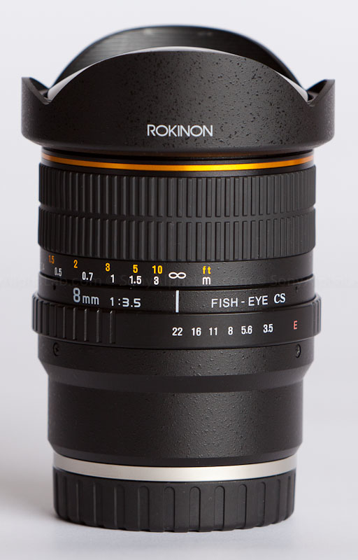 Rokinom 8mm fisheye lens