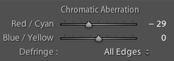 Chromatic Aberration Adjustment