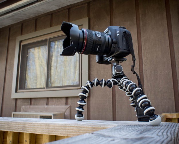 Joby Gorrillapod SLR-Zoom w/ Ballhead and my Canon 5d Mark II w/ Lens