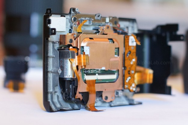 Nex-7 - Back left side view showing Copper Heatsink