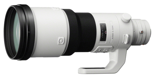 SAL500F40G 500mm F4 G SSM super-telephoto lens