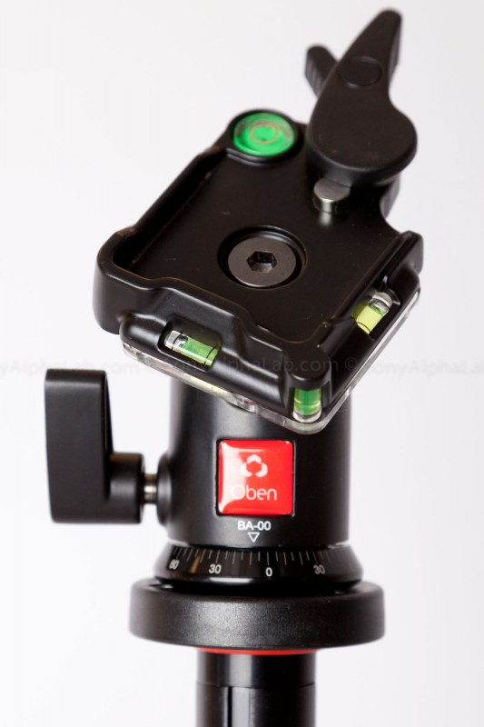 BA-00 Ball Head - Close-up with quick re-lease plate Out