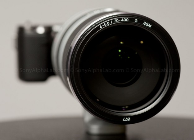 Alpha LA-EA1 Camera Mount Adapter with Nex-5n and Sony 70-400mm f/4-5.6 G SSM Lens