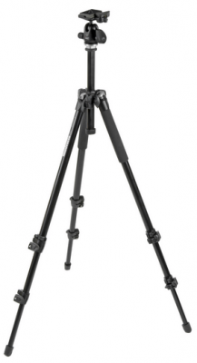Manfrotto 293 Aluminum 3-Section Tripod W/QR Ballhead