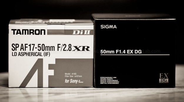 Tamron 17-50mm f/2.8 XR Di II LD Lens and the Sigma 50mm f/1.4 EX DG HSM Lens