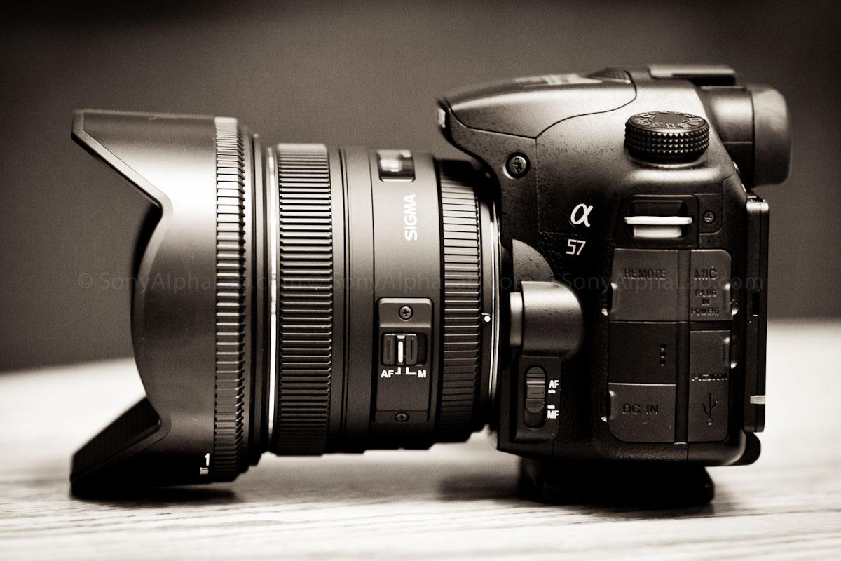 sony 50mm 1 4. sony a57 w/ sigma 50mm f/1.4 ex dg hsm lens - left side 1 4