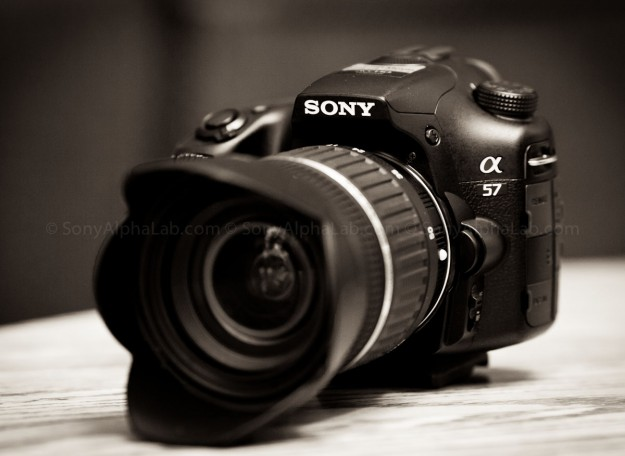 Sony A57 w/ Tamron 17-50mm f/2.8 XR Di II LD Lens @ 17mm - 3/4 view