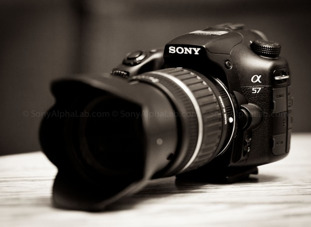 Sony A57 w/ Tamron 17-50mm f/2.8 XR Di II LD Lens @ 50mm - 3/4 view