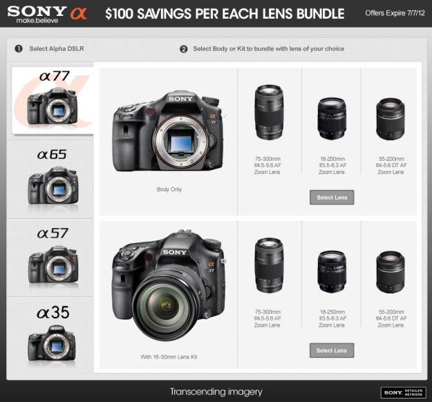 Sony Alpha Bundles!!