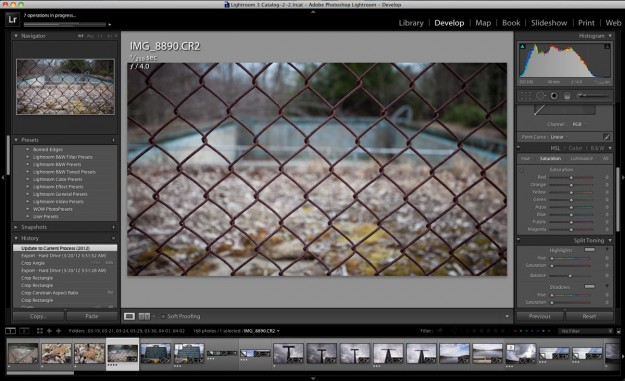 Lightroom 4 - Develope Module