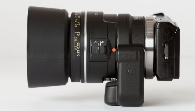 Nex-5n, Sony DT 35mm f/1.8 Lens Mounted to the Sony La-ea2 Lens Adapter