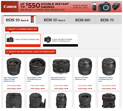 Canon DSLR & Lens Double Instant Rebates  Extended till June 30th.