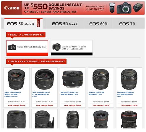 Canon DSLR & Lens Double Instant Rebates  Extended till June 30th.