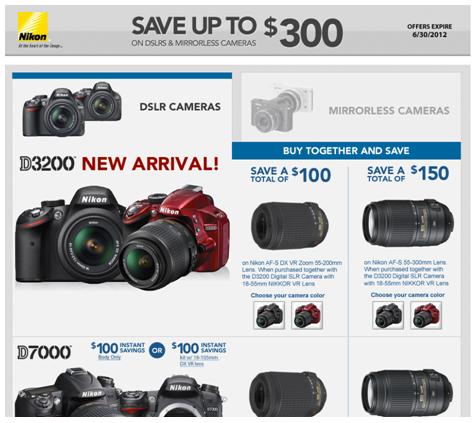 Nikon Dslr + Lens Bundle rebates   Extended till June 30th.