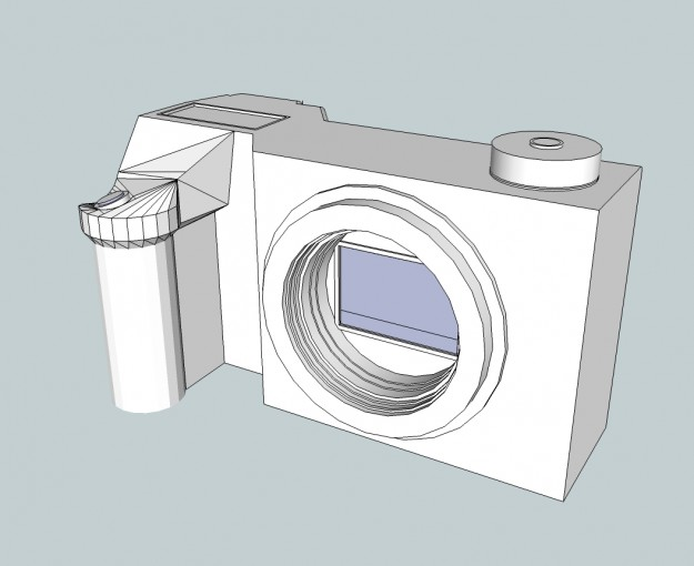 Sony Nex-XX Prototype - DSLR style grip refined and the Mode Dial added