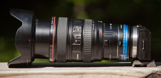 Nex-5n w/ Fotodiox Lens Adapter, 25mm Extension Tube, and Canon 24-105mm f/4 L Lens!!
