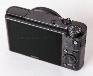 Sony RX100 - Back Top View