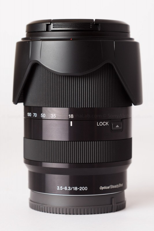 Sony 18-200mm f/3.5-6.3 OSS Lens - Closed up
