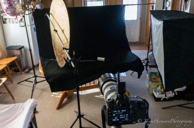 Newborn Photography Lighting Set-up