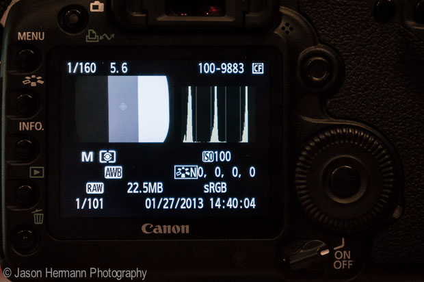 Histogram on the Calibrated Camera