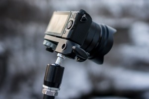 Sony Nex-5r using Manfrotto magic Arm and Super Clamp