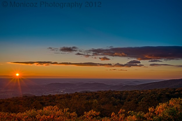 Sunrise in the Shenandoah