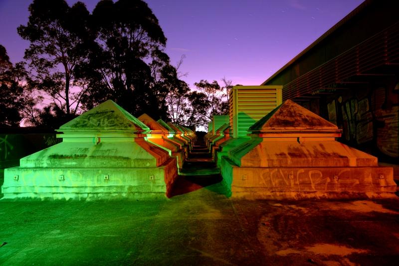 Green & Gold Pyramids