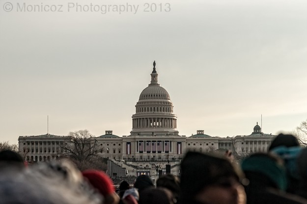 US Capital Building after Sunrise
