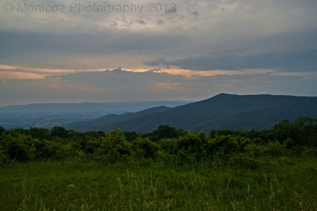 Shenandoah Mountains Before Sunset