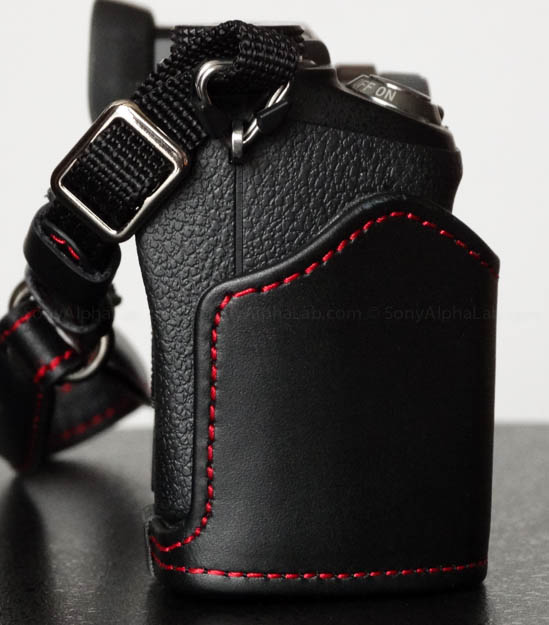 Toma Genuine Leather Hand / Wrist Camera Strap on Nex-6