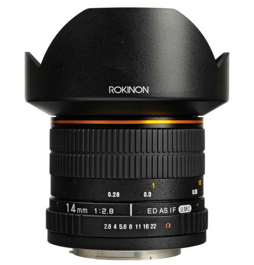 Rokinon 14mm Ultra Wide-Angle f/2.8 IF ED UMC Lens For Sony