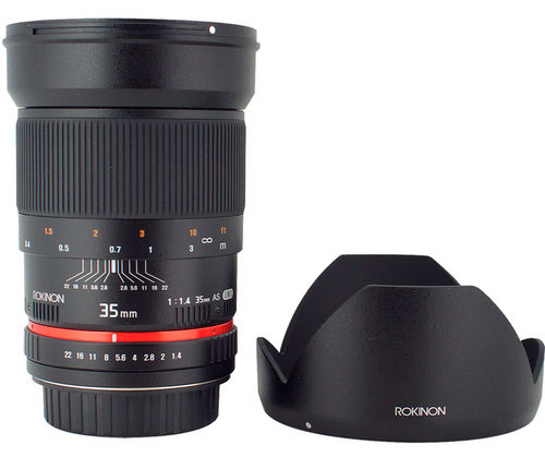 Rokinon 35mm f/1.4 Wide-Angle US UMC Aspherical Lens for Sony