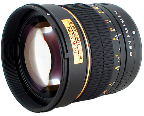 Rokinon 85mm f/1.4 Aspherical Lens for Sony