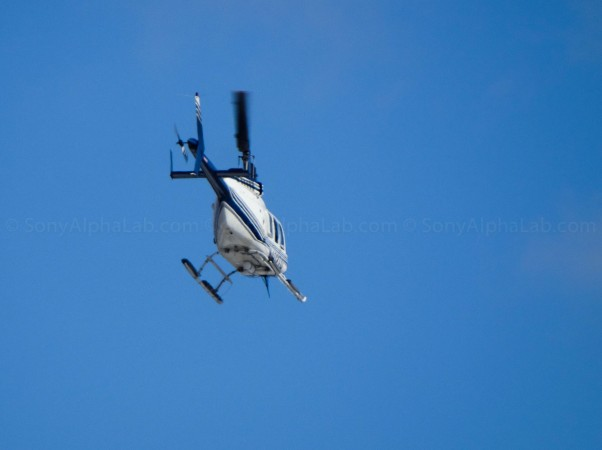 Helicopter in Flight - DSC-HX300
