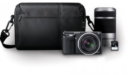 Sony Alpha NEX-F3 Mirrorless Digital Camera with 18-55mm f/3.5-5.6 and 55-210mm f/4.5-6.3 Lenses Bundle (Black)