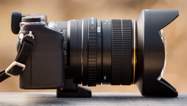 Rokinon A-Mount 14mm f/2.8 Lens on Nex-6 w/ LA-EA1 lens adapter